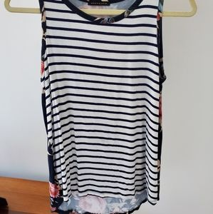 Stripe and floral tank